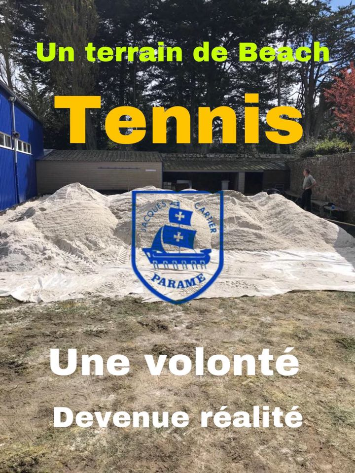 Un court de Beach tennis à St MALO. TC Jacques CARTIER