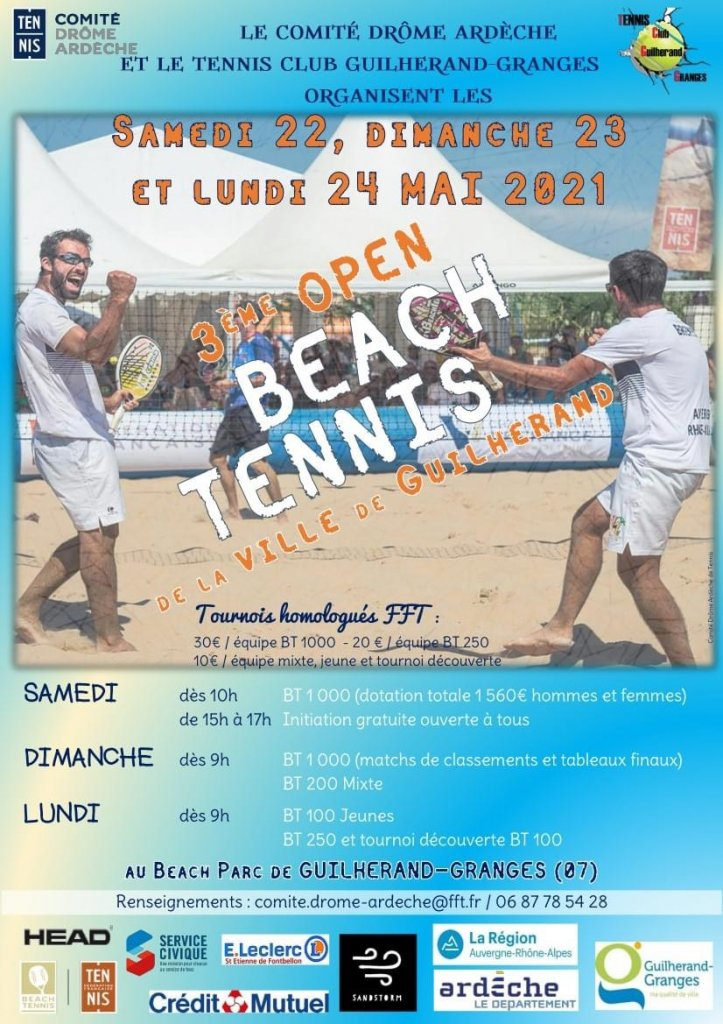 Tournoi de Beach tennis Guilherand-granges 23/23mai