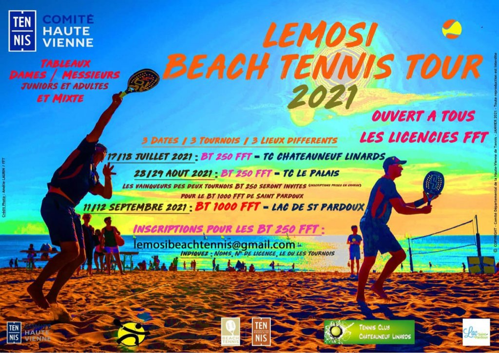 3 tournois de Beach tennis pour un été VERY BEACH. LEMOSI BEACH TENNIS PADEL