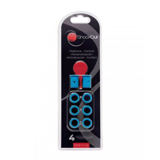 Anti vibrateurs Padel SHOCKOUT bleu